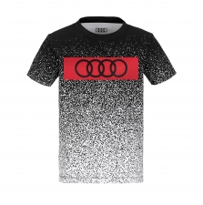 Poiste T-Särk must/valge/punane