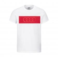 Audi Rings T-särk, meeste, valge