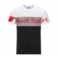 Audi Sport T-särk, meeste, hall/valge
