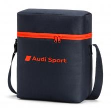 Audi Sport termokott, tumehall/punane