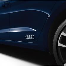 Kleebis Audi rõngad, iibisvalge