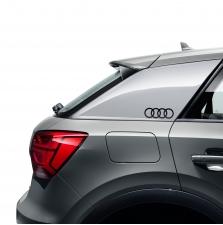 Kleebis Audi rõngad, briljantmust