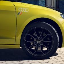 Kleebis Audi rõngad heritage lipuga, floretthõbe